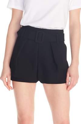 Maje Ikaren Belted Overlay Miniskirt