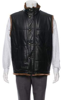 Stefano Ricci Mink-Lined Leather Vest