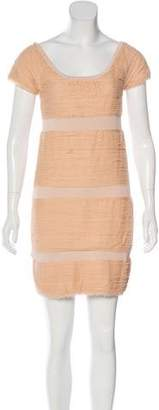 Rag & Bone Silk-Trimmed Sheath Dress