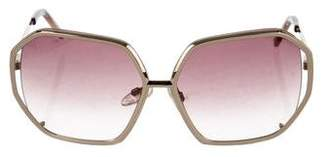 Gianfranco Ferre Metallic Hexagon Sunglasses