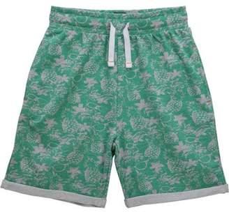 No Retreat Toddler Boys' Printed Cuffed Knit Shorts with Drawstring Waist