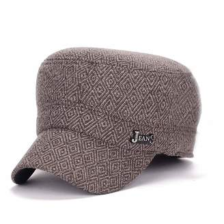 978a5ad90f5 King Star Men Wool Military Army Style Leather Flat Top Cadet Baseball cap