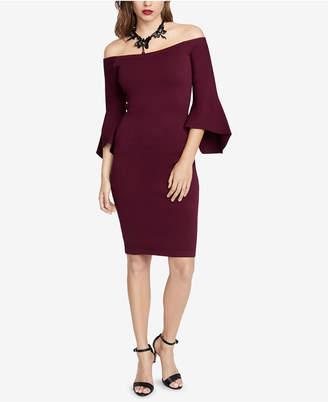 Rachel Roy Off-The-Shoulder Bell-Sleeve Sweater Dress