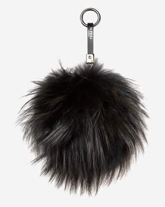 N.Peal Raccoon Fur Keyring