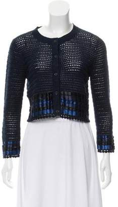 Alice + Olivia Knit Crop Top Cardigan