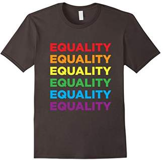 LGBT Equality Pride Rainbow Text T-Shirt For Lesbian