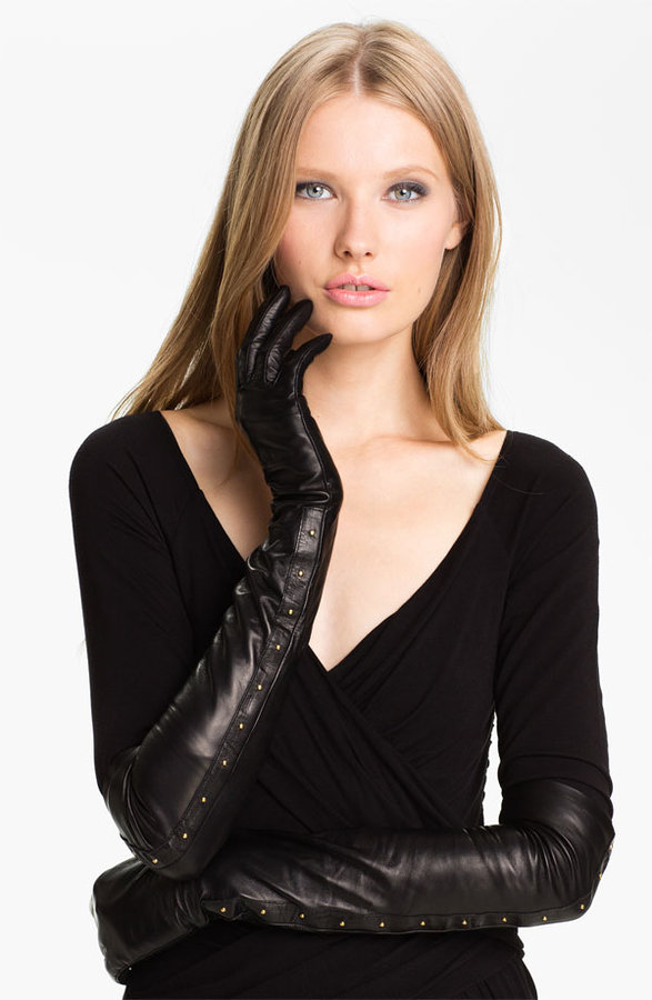 Nordstrom Opera Length Leather Gloves