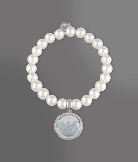 Emporio Armani Bracelet In Steel, Resin And Swarosvki Crystals