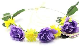 PARTYMASTER Rose Flower Wedding Flower Crown Headband Hair Wreath Boho Floral Headbands