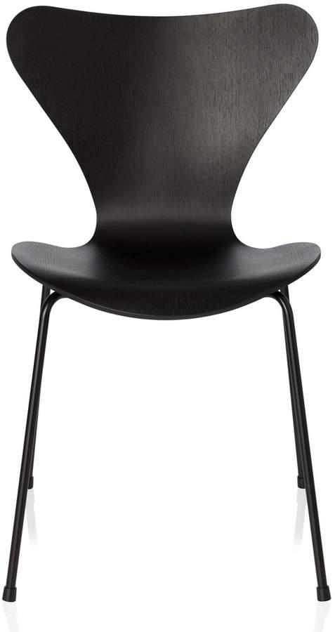 Fritz Hansen - Serie 7 Stuhl, Monochrom Esche Schwarz gefärbt, 46.5 cm