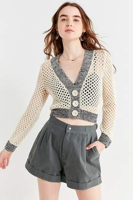 Urban Outfitters Zola Open-Stitch Cropped Cardigan