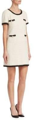 Edward Achour Chain-Embellished Shift Dress