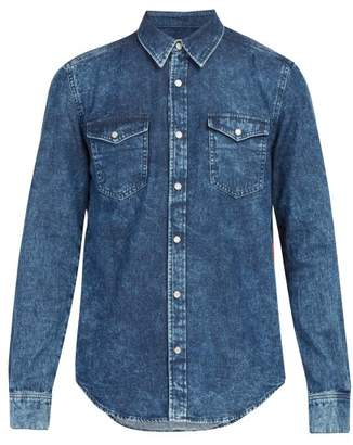 Givenchy Logo Side Stripe Denim Shirt - Mens - Indigo