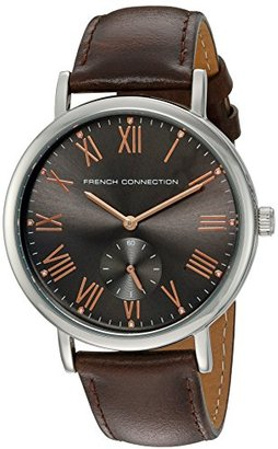 French Connection メンズ' Harley Classic ' Quartz Metal andレザーAutomatic Watch , Color : Brown ( Model : fc1259t )