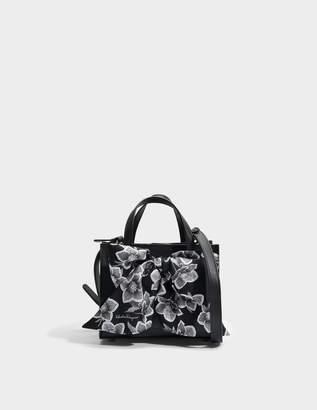 Salvatore Ferragamo Foulard Tote Bag in Black Dolce T Leather