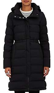 Herno Women's Down-Quilted Tech-Fabric Long Coat-Black