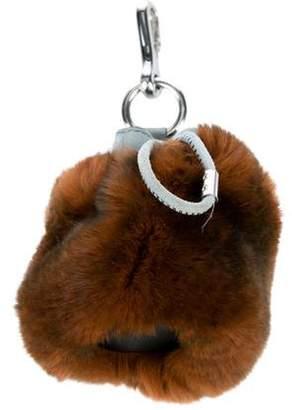 Alexander Wang Mini Roxy Fur Bag Charm