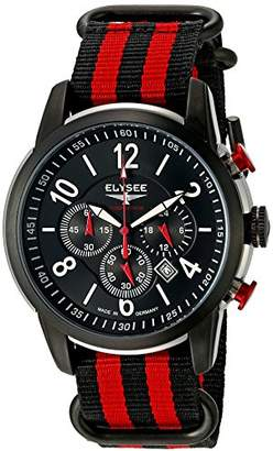 Elysee Men's 80524 Competition Analog Display Quartz Multi-Color Watch