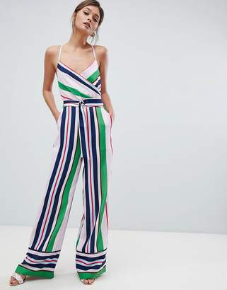 f8707fbe7c64 Ted Baker Strappy Wrap Front Jumpsuit in Bay of Honour Stripe