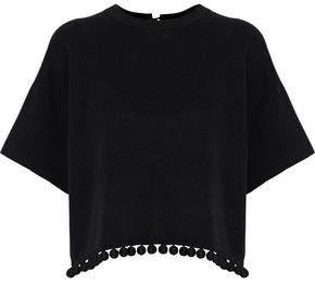 Proenza Schouler Pompom-Embellished Stretch-Knit Top