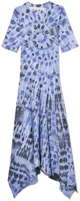 Raquel Allegra Exclusive Handkerchief Dress in Blue Feather