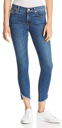7 For All Mankind Angled-Hem Skinny Ankle Jeans in Glam Medium