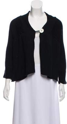Edun Three-Quarter Sleeve Rib Knit Cardigan