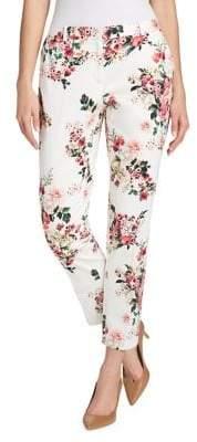 Tommy Hilfiger Printed Slim Ankle-Length Pants