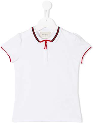 Gucci Kids bow detail polo shirt