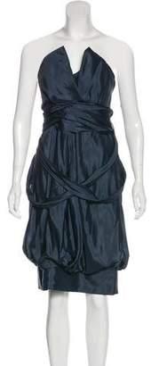 Saint Laurent Silk Strapless Dress
