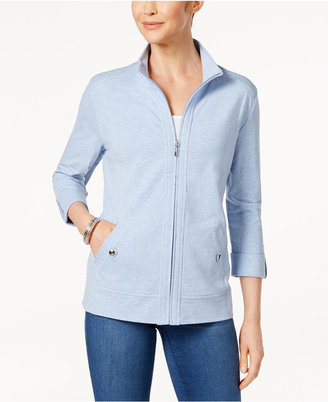 Karen Scott Roll-Tab Active Jacket, Created for Macy's $49.50 thestylecure.com