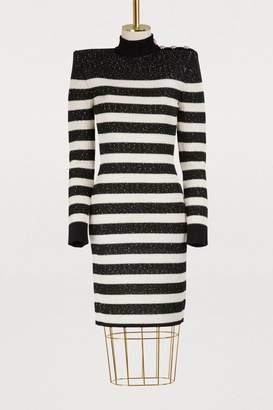 Balmain Striped mini dress