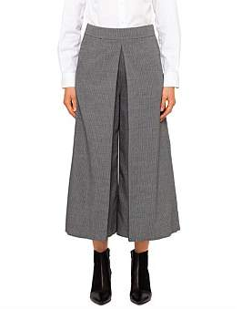 Alexander Wang High Waisted Cropped Trouser With Fold Front Detail