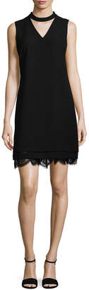 Karl Lagerfeld Choker Shift Dress