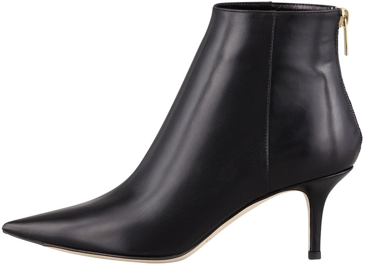 Jimmy Choo Ada Pointy Leather Bootie, Black