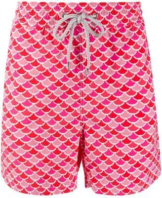 Love Brand fish scale print swim shorts