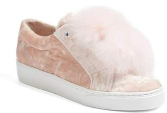 Here \u002F Now Emma Genuine Fox Fur Trim Sneaker