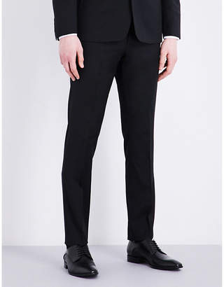 Sandro Slim-fit tapered wool-blend trousers