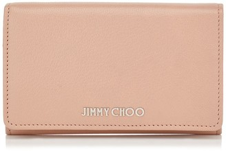 Jimmy Choo MARLIE Ballet Pink Soft Grained Goat Leather Continental Wallet