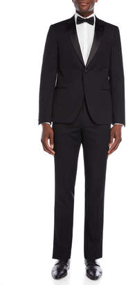 Ike Behar Ike Evening By Black Peak Lapel Wool Tuxedo