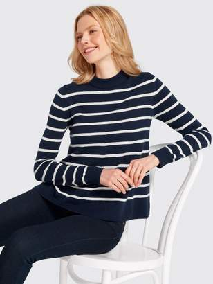 Draper James Stripe Boxy Turtleneck Sweater