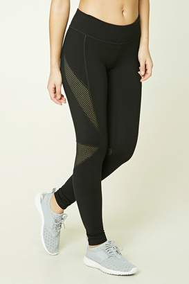 Forever 21 Active Mesh Insert Leggings