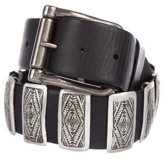 Ralph Lauren Embellished Leather Belt w/ Tags