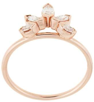 Natalie Marie 14kt rose gold Diamond Sun ring