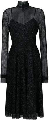 Philosophy di Lorenzo Serafini layered sheer top dress