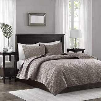Madison Home USA Home Essence Mercer Faux Velvet Reversible 3 Piece Coverlet Set