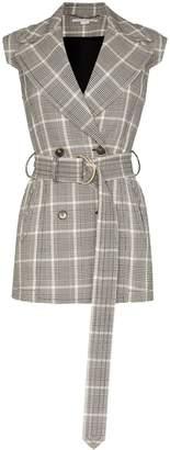 Stella McCartney check belted waistcoat