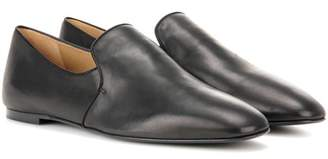 The Row Alys leather slippers