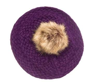 Pop Fashionwear Inc Pom Pom Beret Slouchy Beanie Winter Women Baggy Hat