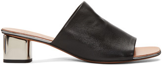 Robert Clergerie Black Lato Mules $495 thestylecure.com